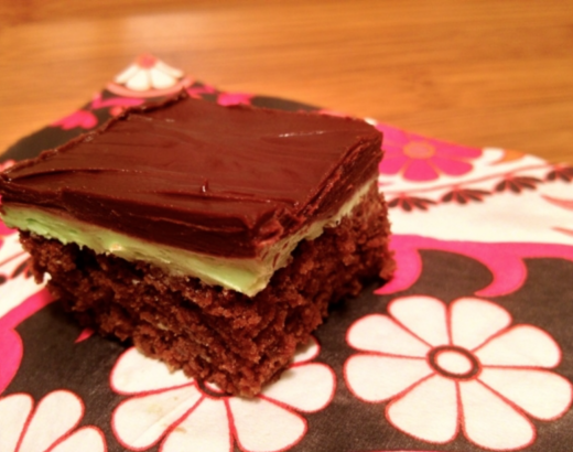 Chocolate Frosted Mint Bars